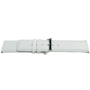 Pulseira de relógio Universal K505 Couro Branco 28mm