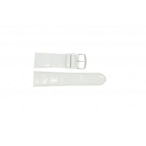 Echt lederen band croco wit WP-61324.32mm