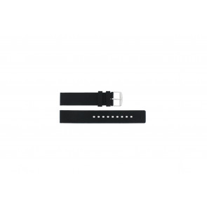 Pulseira de relógio Universal 21901.01.18 / 6826 Silicone Preto 18mm