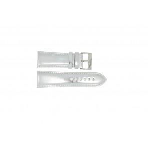 Pulseira de relógio Universal 369.31 Couro Cinza 30mm