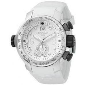 Zodiac pulseira de relogio ZO8511 Borracha Branco