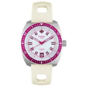 Zodiac pulseira de relogio ZO2269 Borracha Branco