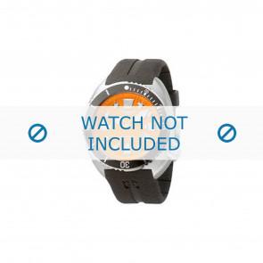 Pulseira de relógio Zodiac ZO8002 / ZO8001 Borracha Preto 21mm